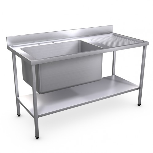 1500 x 700mm Jumbo Bowl Sink
